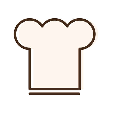 chef hat flat style icon vector illustration design 向量圖像