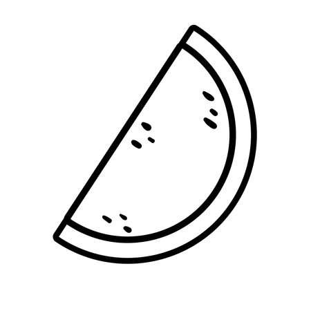 watermelon pop art line style icon vector illustration design