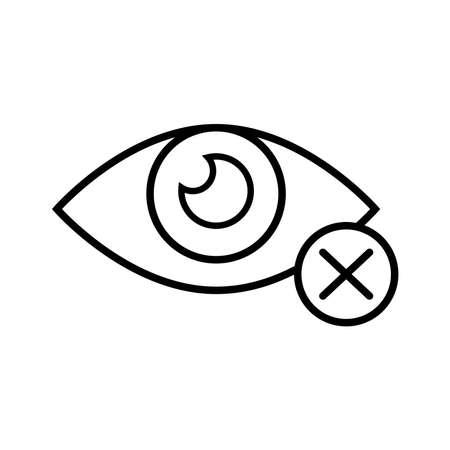 blind eye with denied symbol line style icon vector illustration design