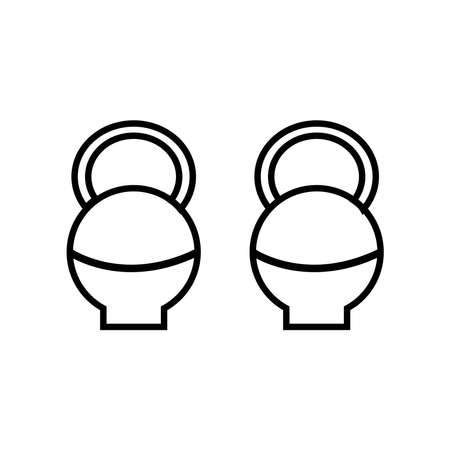 dumbbells therapy tool line style icon vector illustration design