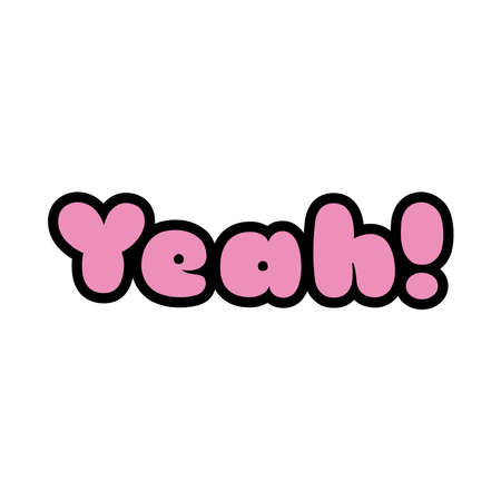yeah word pop art style icon vector illustration design