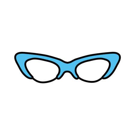 eyeglasses pop art style icon vector illustration design