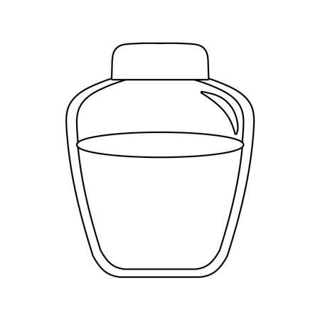 honey in jar isolated icon vector illustration design