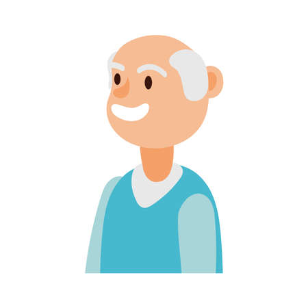 old man person avatar character vector illustration design