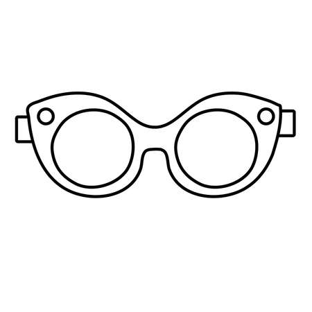 sunglasses pop art line style icon vector illustration design