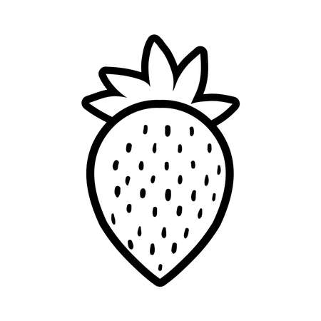 strawberry pop art line style icon vector illustration design