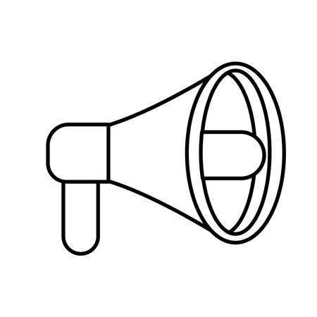 megaphone sound device line style icon vector illustration design Ilustrace