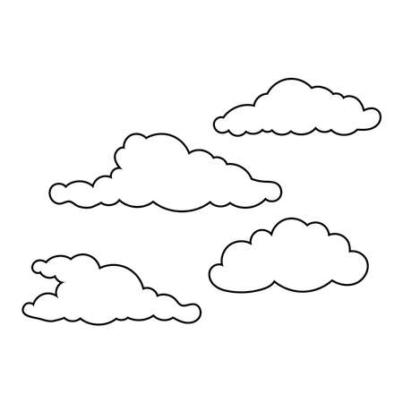 clouds sky floating scene icons vector illustration design 矢量图像
