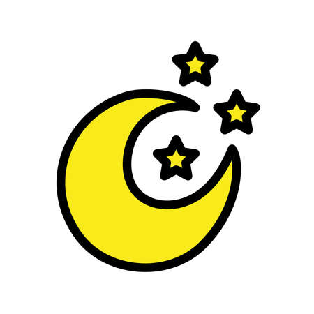 moon and stars pop art style icon vector illustration design 向量圖像