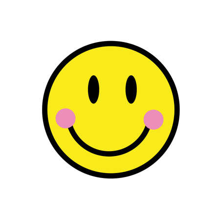 smile emoji pop art style icon vector illustration design