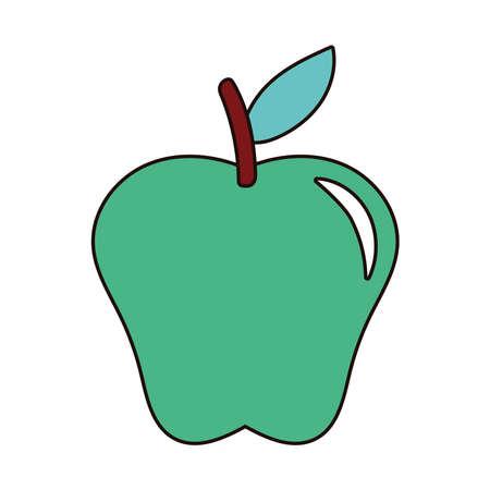 apple green fresh fruit nature icon vector illustration design