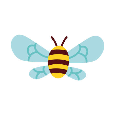 bee insect flying isolated icon vector illustration design