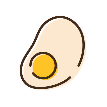 egg fried nutritive food line and fill style icon vector illustration design Vettoriali