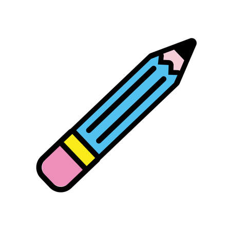 pencil pop art style icon vector illustration design