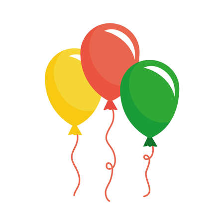 balloons helium floating isolated icon vector illustration design 일러스트