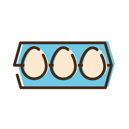 eggs nutritive food line and fill style icon vector illustration design