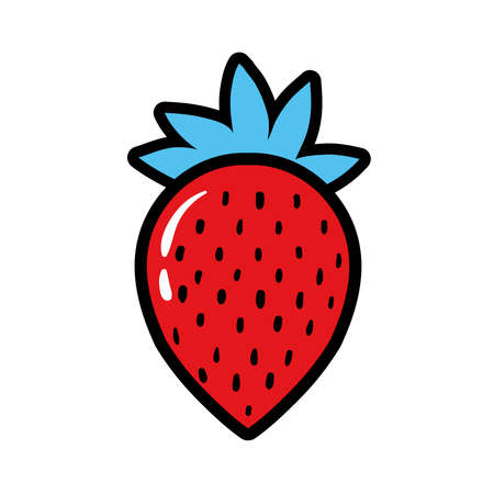 strawberry pop art style icon vector illustration design