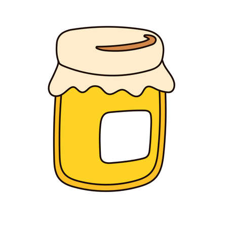 sweet honey pot isolated icon vector illustration design Ilustrace