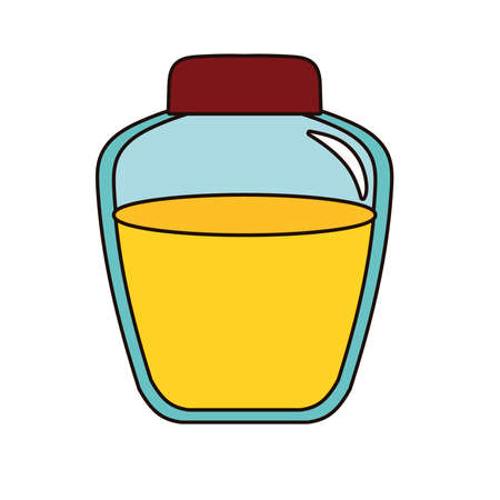 honey in jar isolated icon vector illustration design