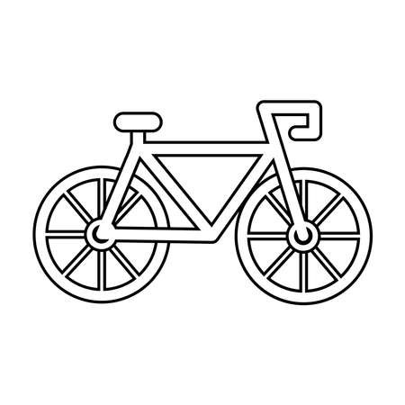 bicycle sport vehicle isolated icon vector illustration design