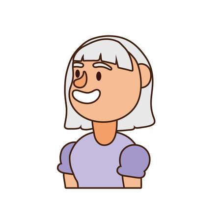 old woman person avatar character vector illustration design Illusztráció