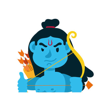 rama god with arch character vector illustration design 版權商用圖片 - 157608648
