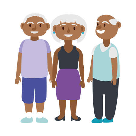 afro old people persons avatars characters vector illustration design