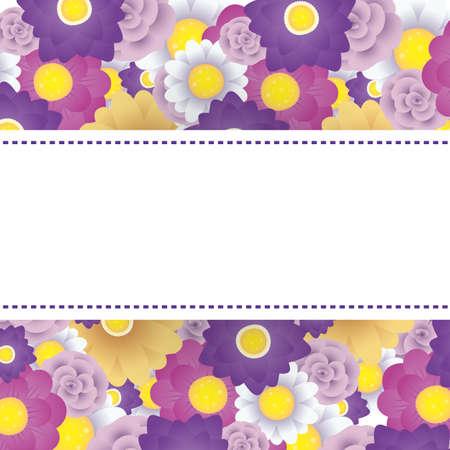floral decorative card template with square frame vector illustration design 일러스트