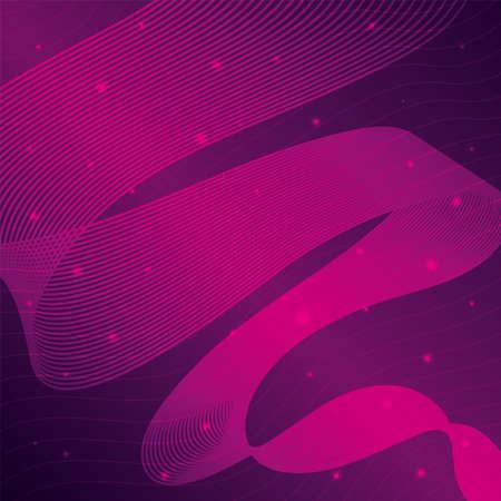 waves sound pink background vector illustration design 向量圖像