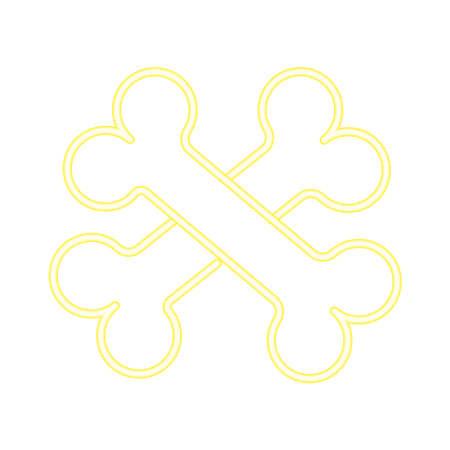 bones crossed neon style icon vector illustration design 矢量图像