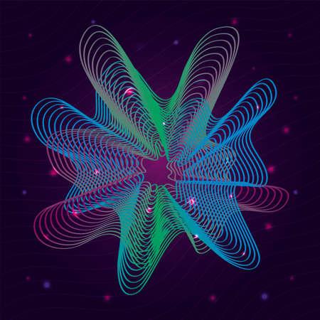 waves sound background vector illustration design