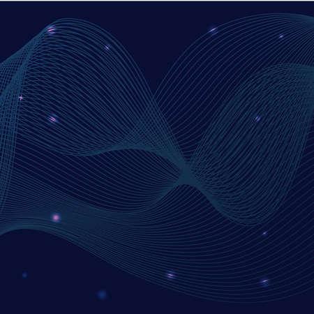 waves sound blue background vector illustration design