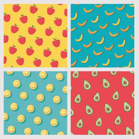 banner fruits background vector illustration