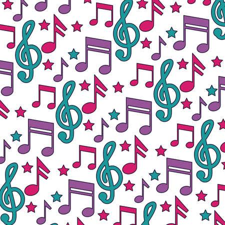 musical notes background festival music vector illustration