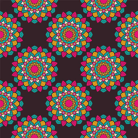 decorative floral colorful mandala ethnicity artistic pattern vector illustration design
