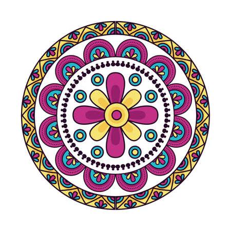 Mandale design, Bohemic ornament meditation indian decoration ethnic arabic and mystical theme Vector illustration
