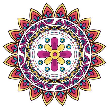 Mandale design, Bohemic ornament meditation indian decoration ethnic arabic and mystical theme Vector illustration Ilustracje wektorowe