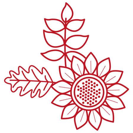 autumn sunflower seasonal isolated icon vector illustration design 矢量图像