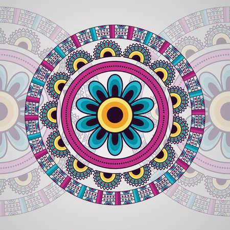 mandala vintage decorative ethnic element traditional vector illustration