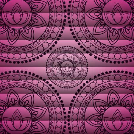 mandala background decorative motif floral lotus design vector illustration