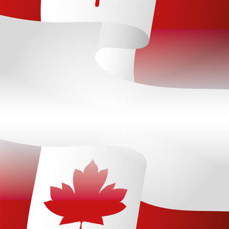 Canadian flag design, Happy canada day holiday and national theme Vector illustration