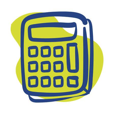 calculator math device line style icon vector illustration design 向量圖像