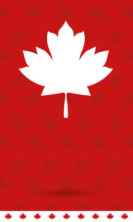 Canadian maple leaf design, Happy canada day holiday and national theme Vector illustration