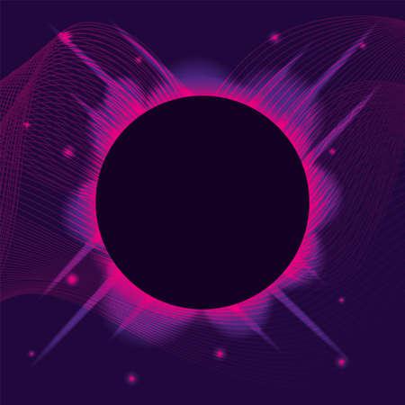 waves sound purple background vector illustration design