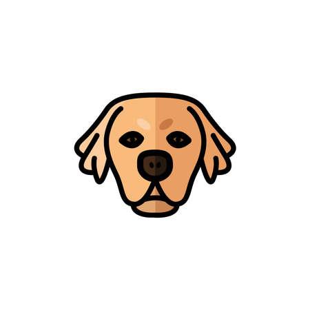 golden retriever dog pet mascot breed head character vector illustration design