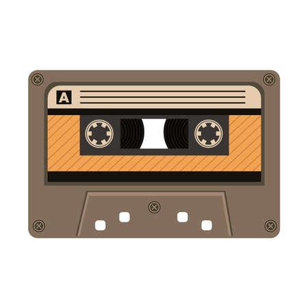 old retro cassette device icon vector illustration design