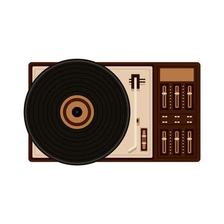 old retro vinyl player icon vector illustration design Vecteurs