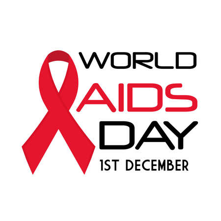 World aids day with ribbon design first december and awareness theme Vector illustration