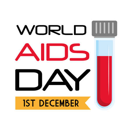 World aids day with tube design, first december and awareness theme Vector illustration Illustration