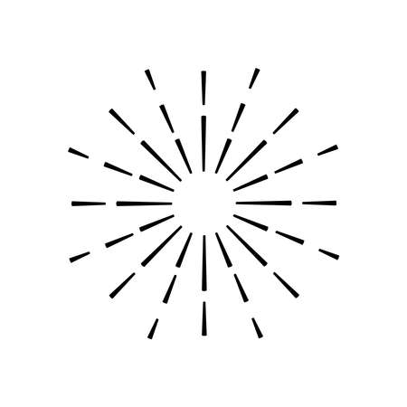 sunburst rays decoration isolated icon vector illustration design